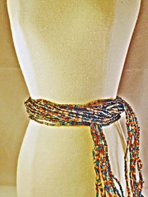 Handmade  multicolored Seeded Beaded Belt