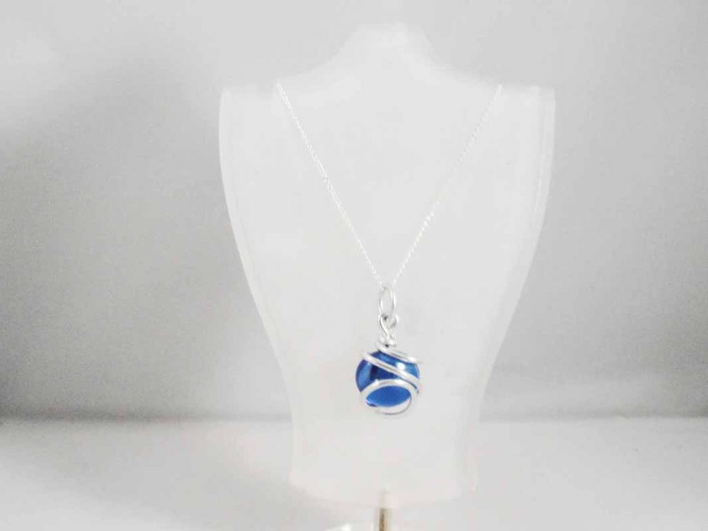 Blue Glass Pendent