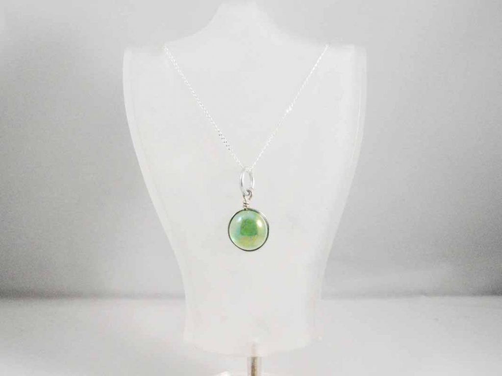 Green Glass Pendent