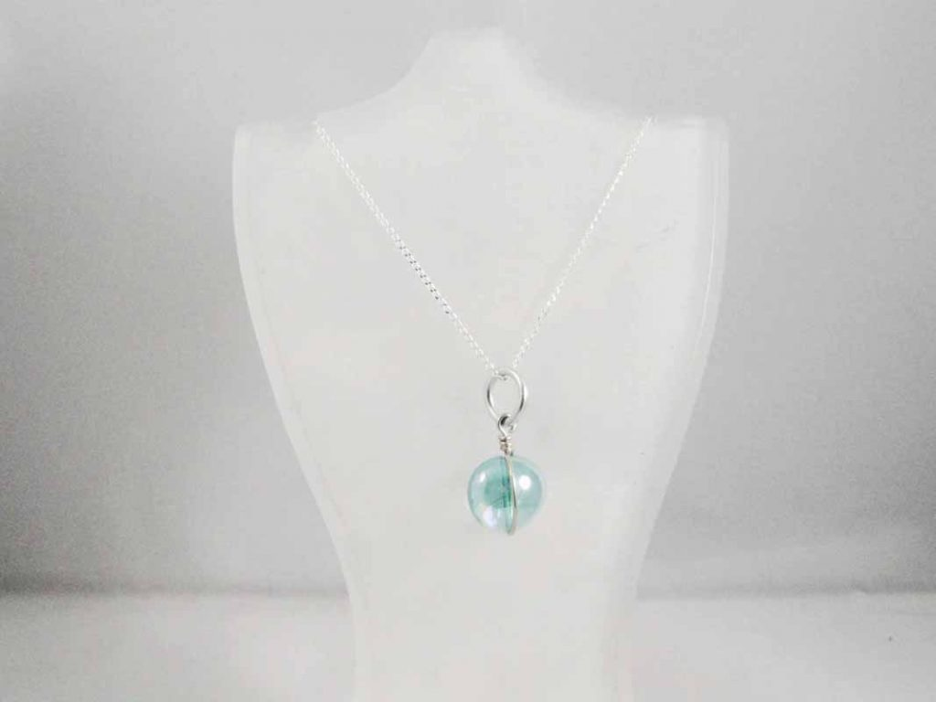 Light Blue Glass Pendent